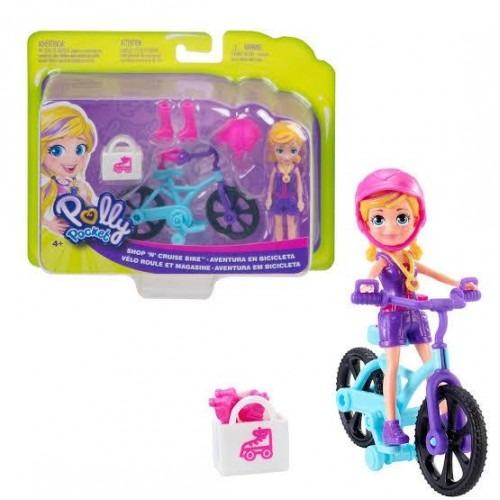 Conjunto Polly Pocket Aventura Em Bicicleta Com Boneca Polly E Acessórios Mattel
