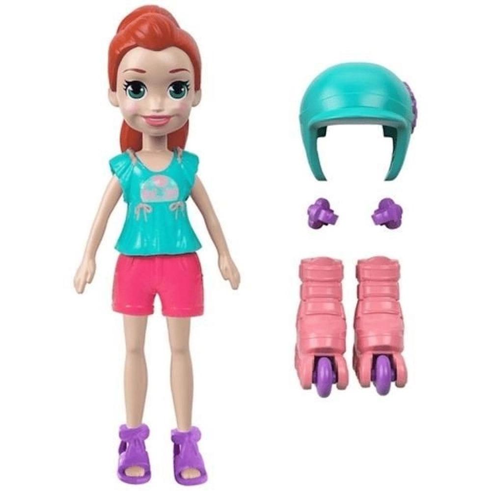 Conjunto Polly Pocket Com Boneca Lila E Patins Mattel