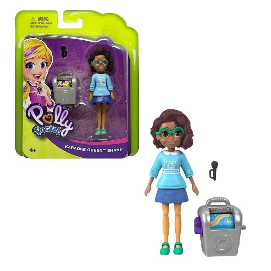 Conjunto Polly Pocket Com Boneca Shani Rainha Do Karaoke Mattel