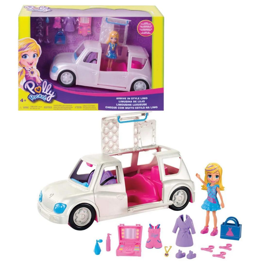 Conjunto Polly Pocket Limousine De Luxo Fashion Com Boneca E Acessórios Mattel