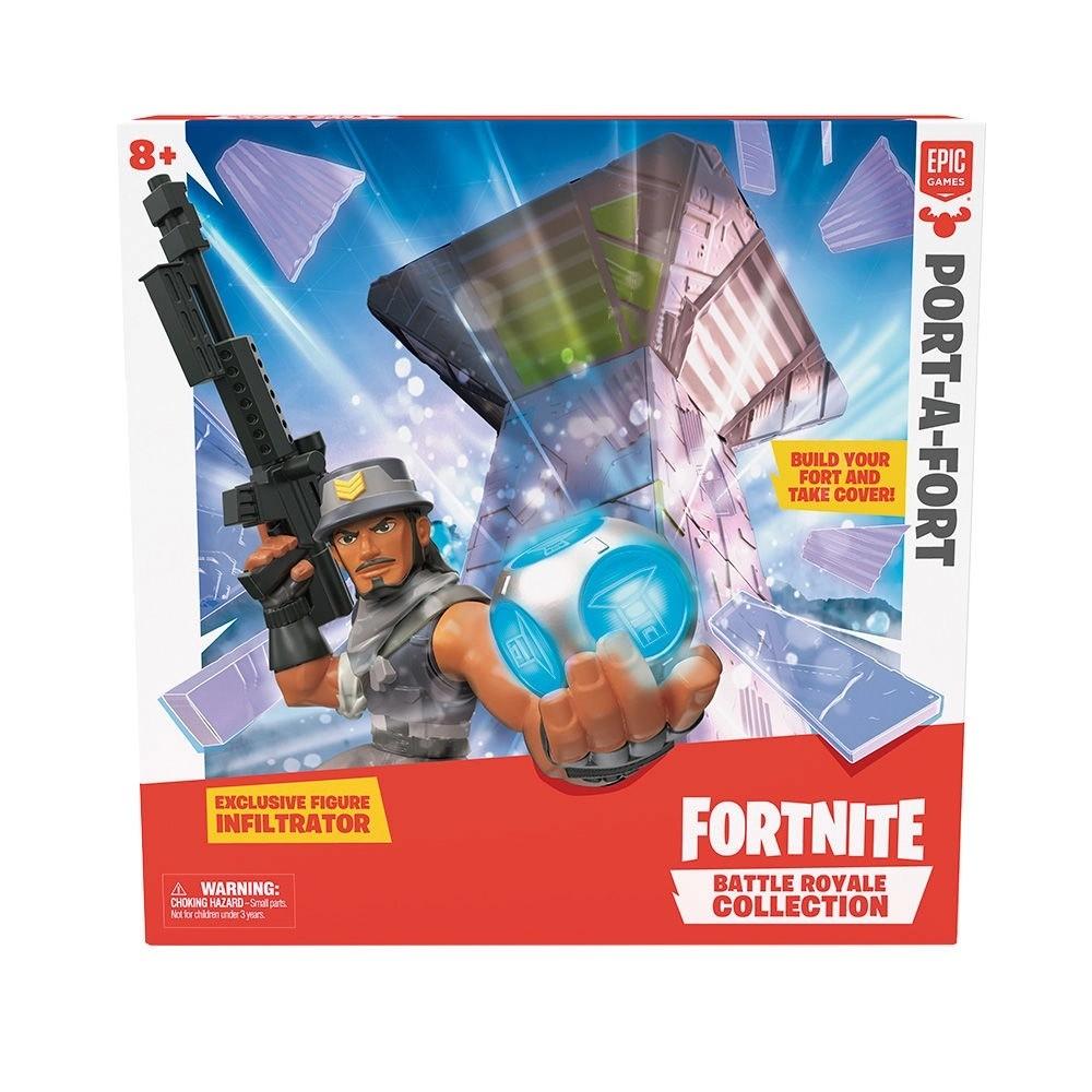 Construa Seu Forte Fortnite Battle Royale Port-A-Fort Com Boneco Fun