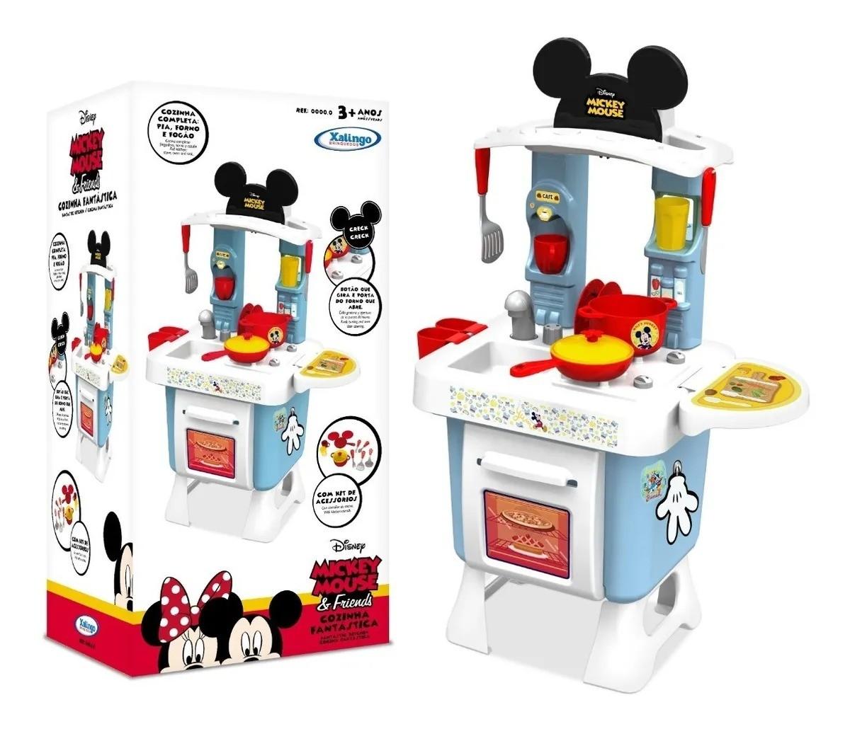 Cozinha Infantil Fantástica Mickey Mouse & Friends Completa Xalingo