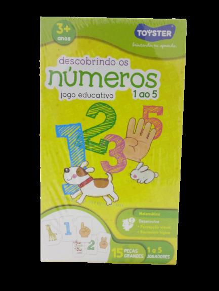 Descobrindo os números de 01 a 05 jogo educativo 2036 Toyster