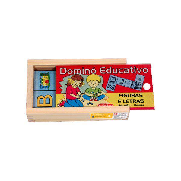 Dominó Educativo Figuras e Letras 0001 Carimbras