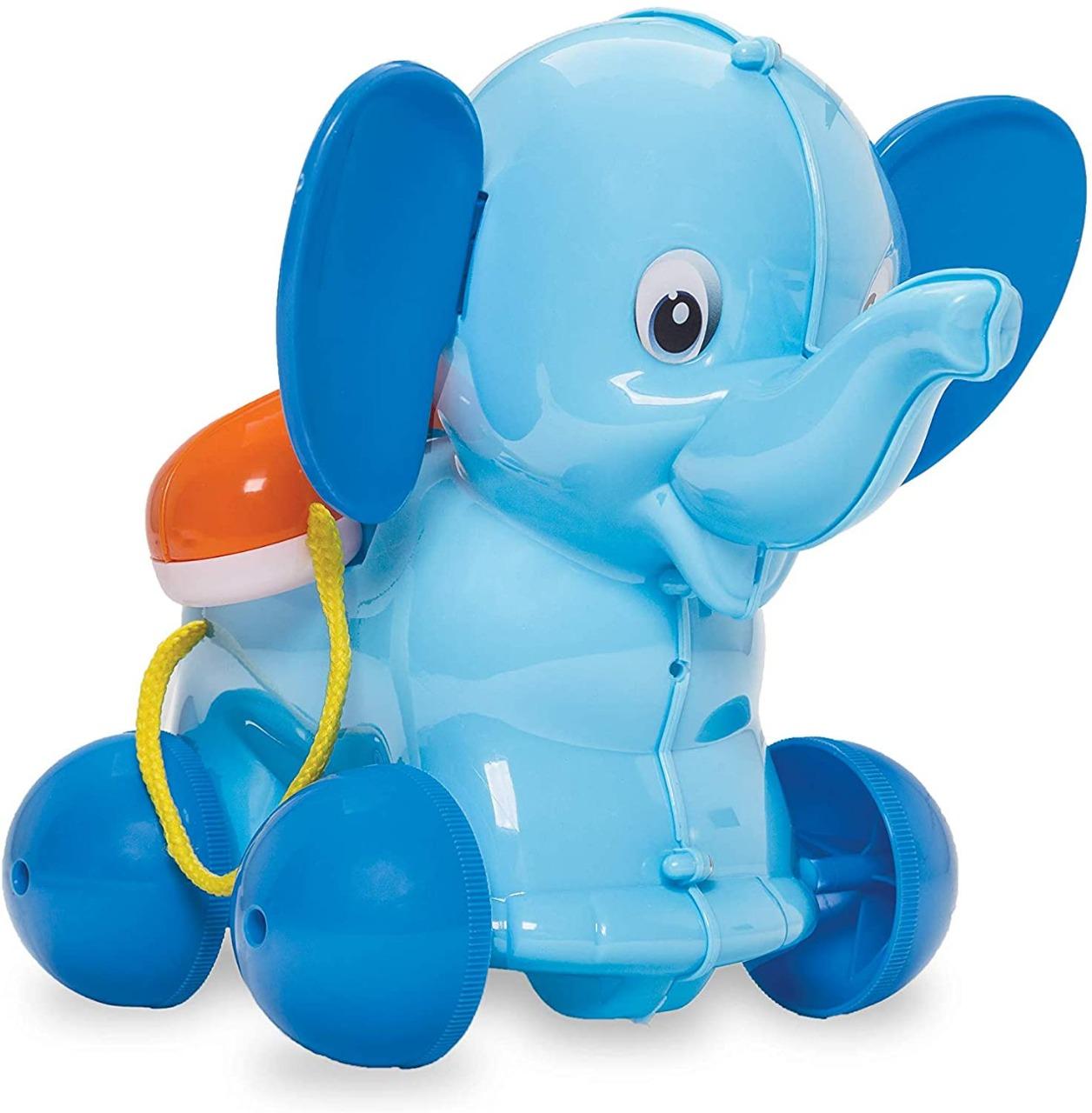 Elefante Azul Telefante Baby Land Com Rodinhas e Telefone Cardoso Toys