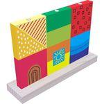 Encaixe Vertical Brinquedo Educativo em Madeira 4630 Carimbras