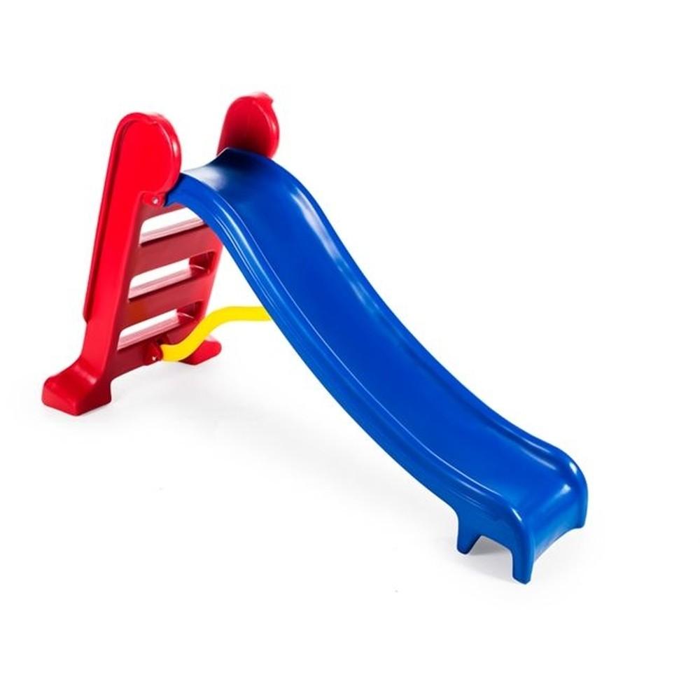Escorregador Infantil Médio Rampa Azul Escada Vermelha Casinha Brinquedos