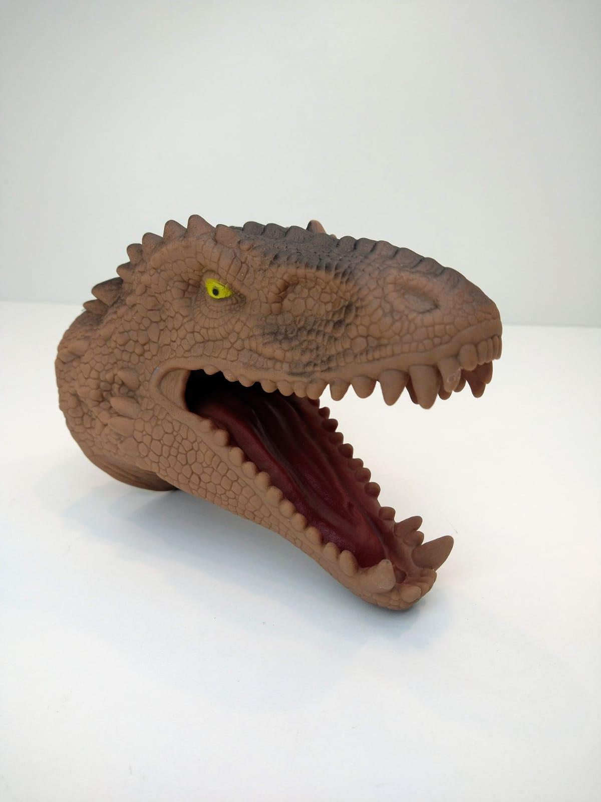 Fantoche De Mão Tiranossauro Rex Adijomar Marrom