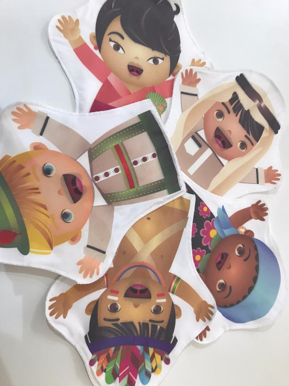 Fantoches Etnias Kit com 5 Personagens Ciabrink