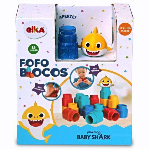 FOFO BLOCOS 15 PEÇAS BABY SHARK - ELKA