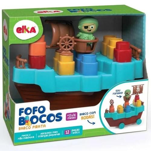 FOFO BLOCOS BARCO PIRATA - 13 PEÇAS