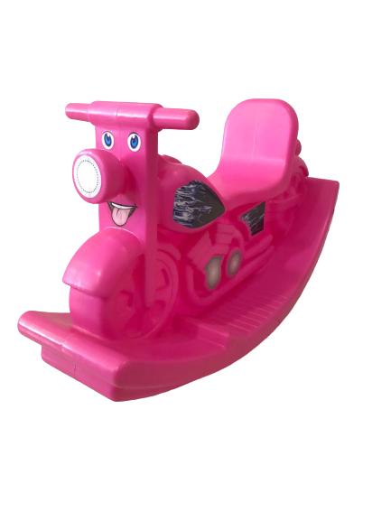 Gangorra Infantil Motoca Rosa Casinha Brinquedos