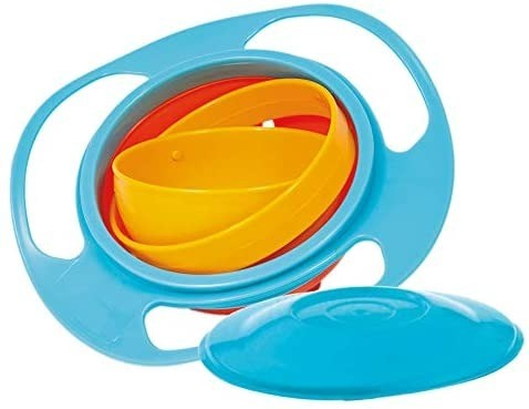 Giro Bowl Azul Pratinho Giratório 360 Graus Buba