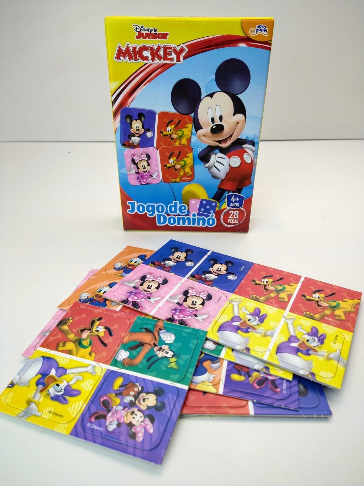 Jogo De Dominó Mickey Disney Junior 28 Peças 8003 Toyster