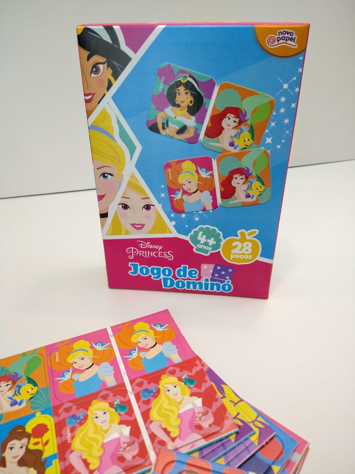 Jogo De Dominó Princesas Disney 28 Peças 8009 Toyster