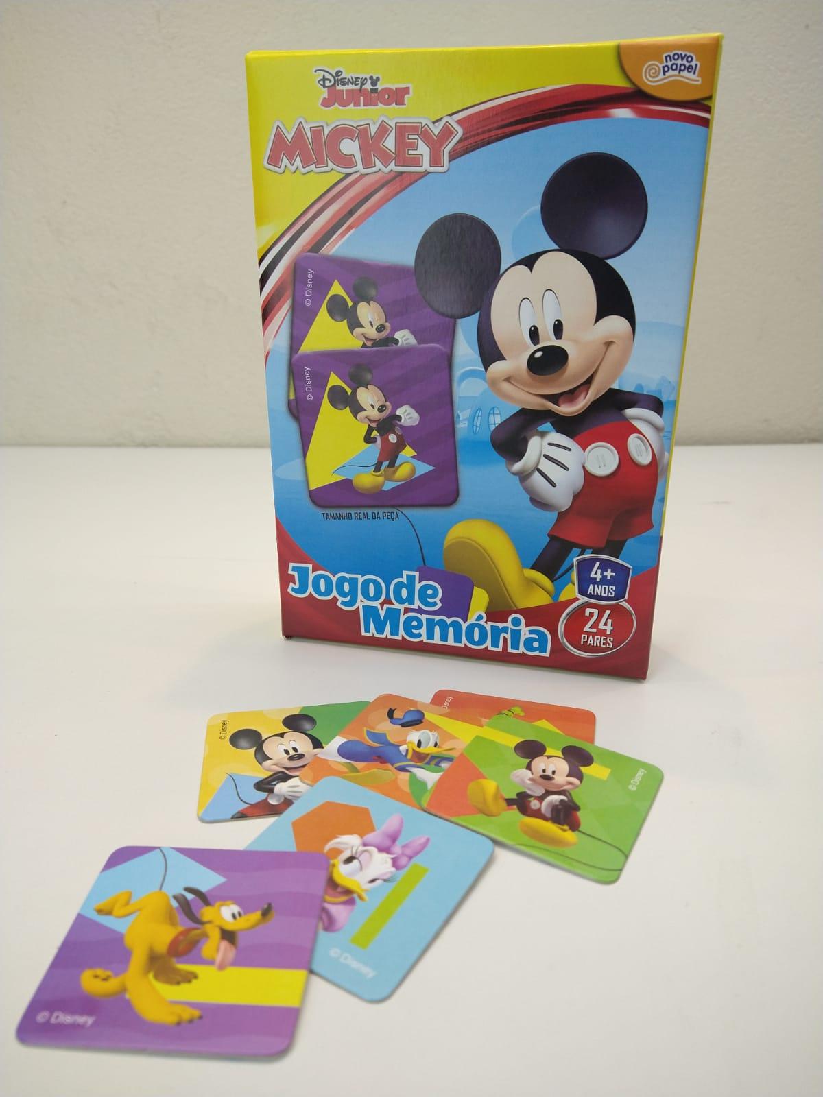 Jogo De Memória Mickey Junior 24 Pares 8004 Toyster