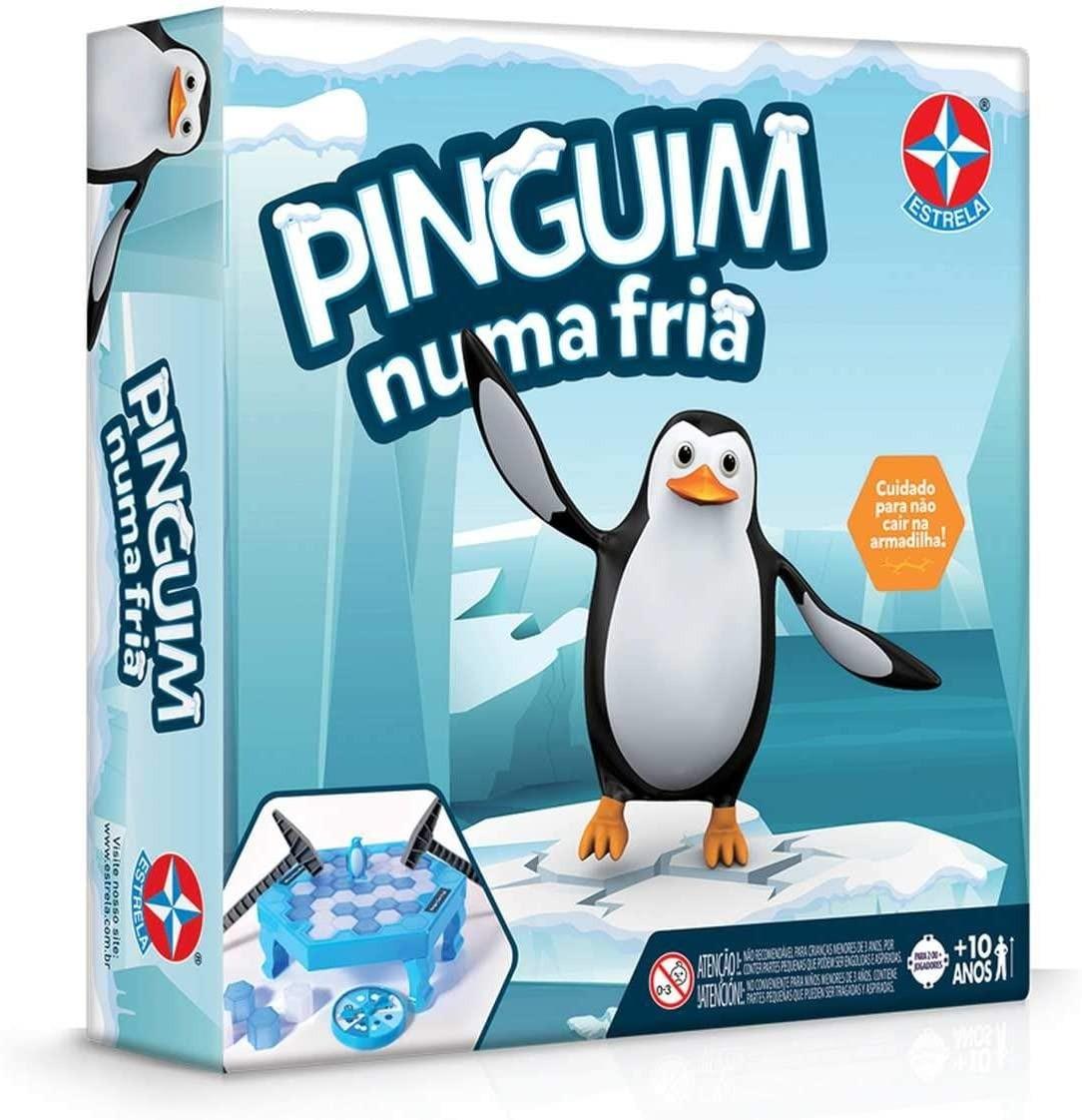 Jogo Divertido Pinguim Numa Fria Estrela