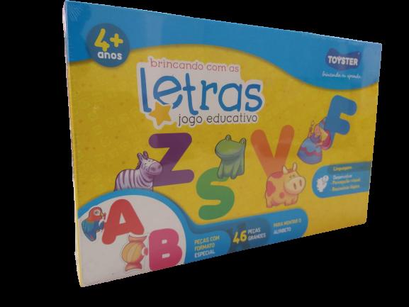 Jogo Educativo Brincando Com as Letras 46 Peças 2045 Toyster