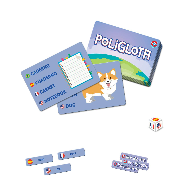 Jogo Educativo Poliglota Português Espanhol Francês e Inglês Estrela