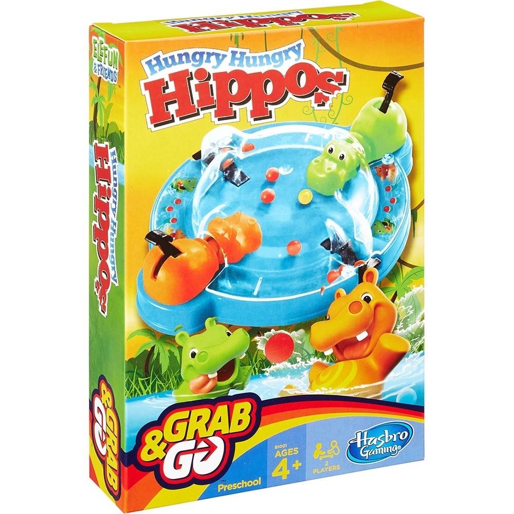 Jogo Hipopótamos Comilões GRABeGO Hasbro Gaming