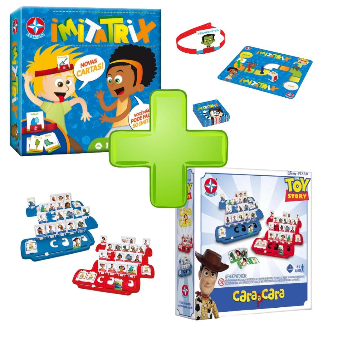 Jogos De Tabuleiro Divertidos Cara A Cara Toy Story + Jogo De Mimica Imitatrix Estrela