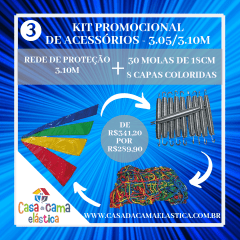 KIT  ACESSÓRIOS -3  CASA DA CAMA ELÁSTICA