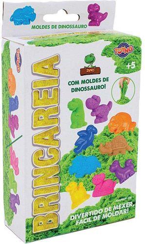 KIT AREIA DE BRINCAR CAIXA/ DINOSSAUROS 150G TOYNG