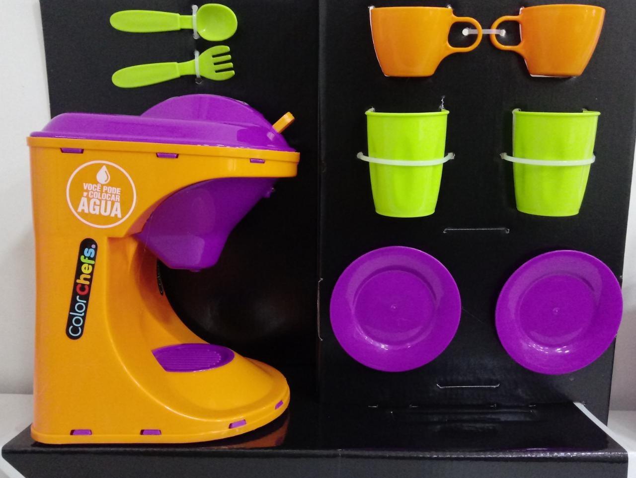 Kit Cafeteira Com Som e Luz Com App Game 418 Usual Brinquedos