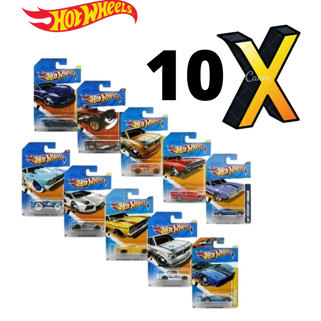 Kit Com 10x Carrinhos Hot Wheels Sortidos C4982 Mattel