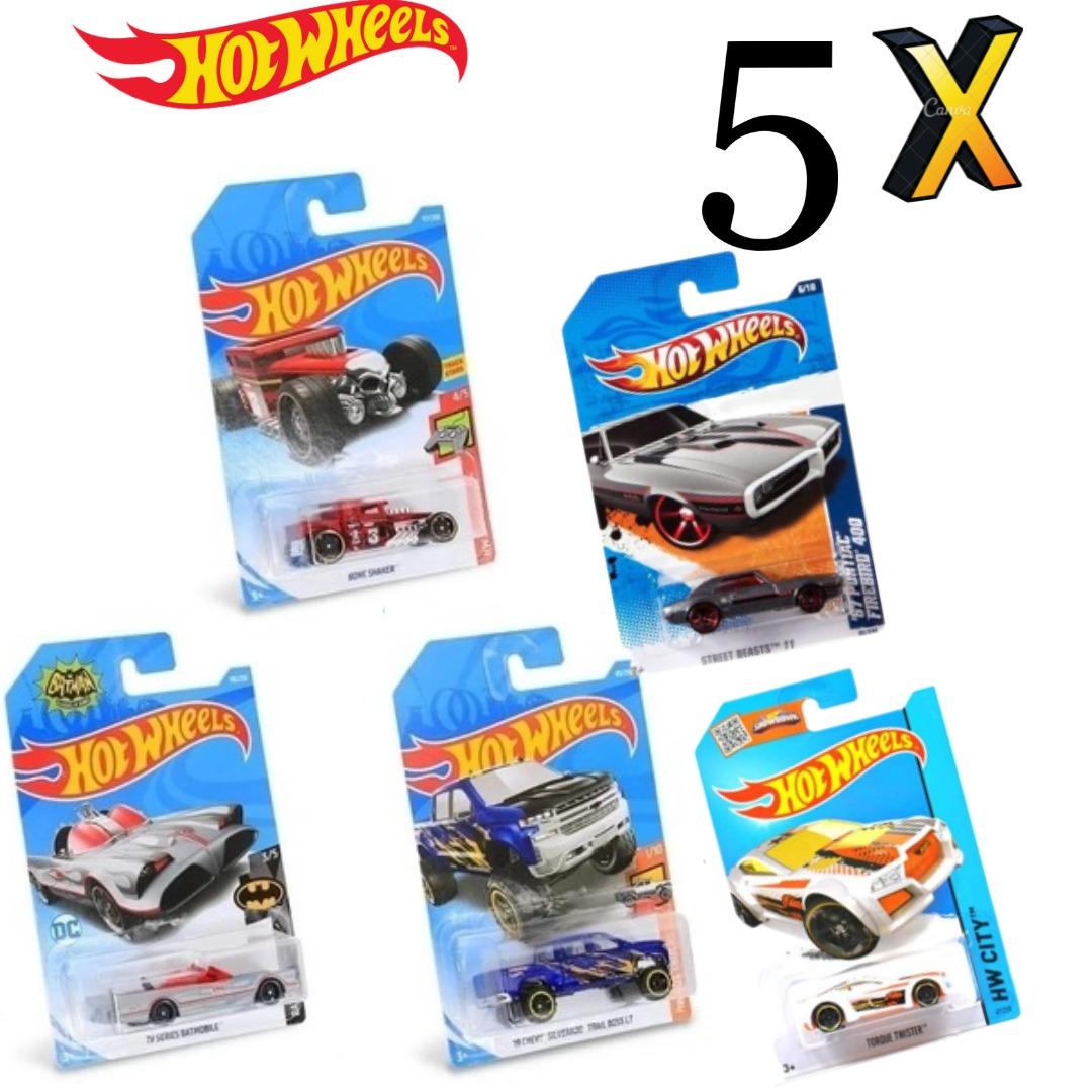 Kit Com 5x Carrinhos Hot Wheels Sortidos C4982 Mattel