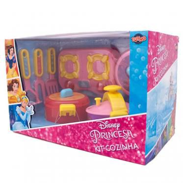 Kit Cozinha Infantil  Jogo de Panelas Princesas Disney Toyng