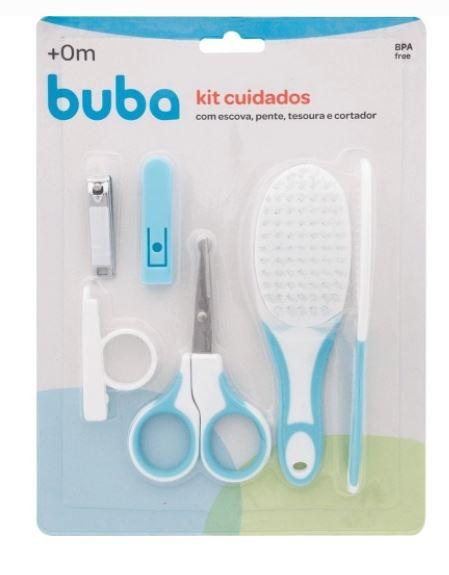Kit Cuidados e Higiene Para O Bebê Azul 5239 Buba