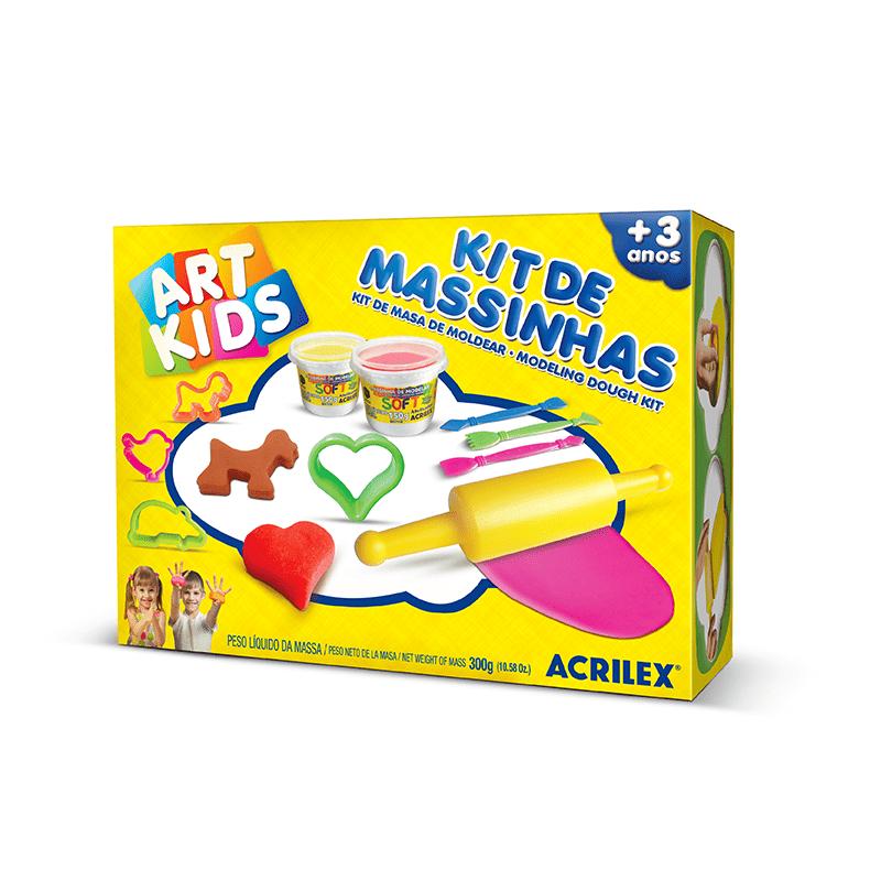 Kit De Massinhas 3 300g Acrilex