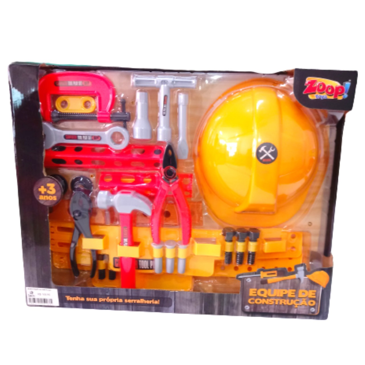 Kit Equipe de Construção 30 Acessórios 1199 Zoop Toys