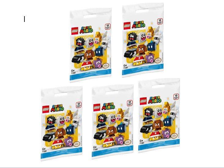 Kit Lego Super Mário Colecionável Com 5 Minifiguras Pacotes De Personagens Sortidos 71361