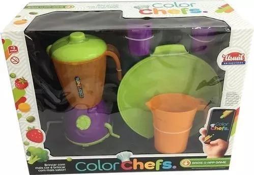 Kit Liquidificador Color Chefs Com App 412 Usual Brinquedos