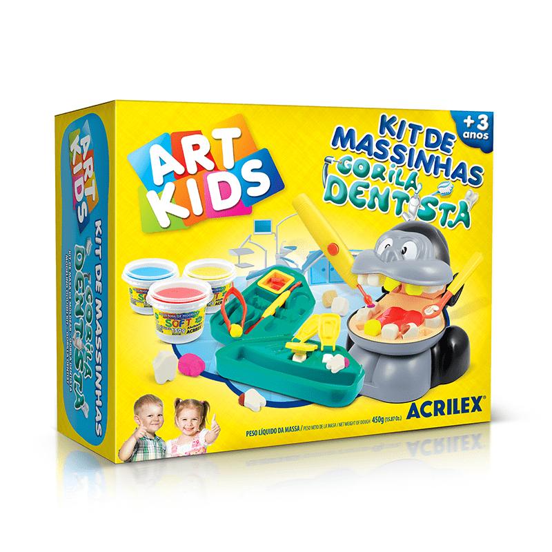 Kit Massinha de Modelar Gorila Dentista 450g Acrilex