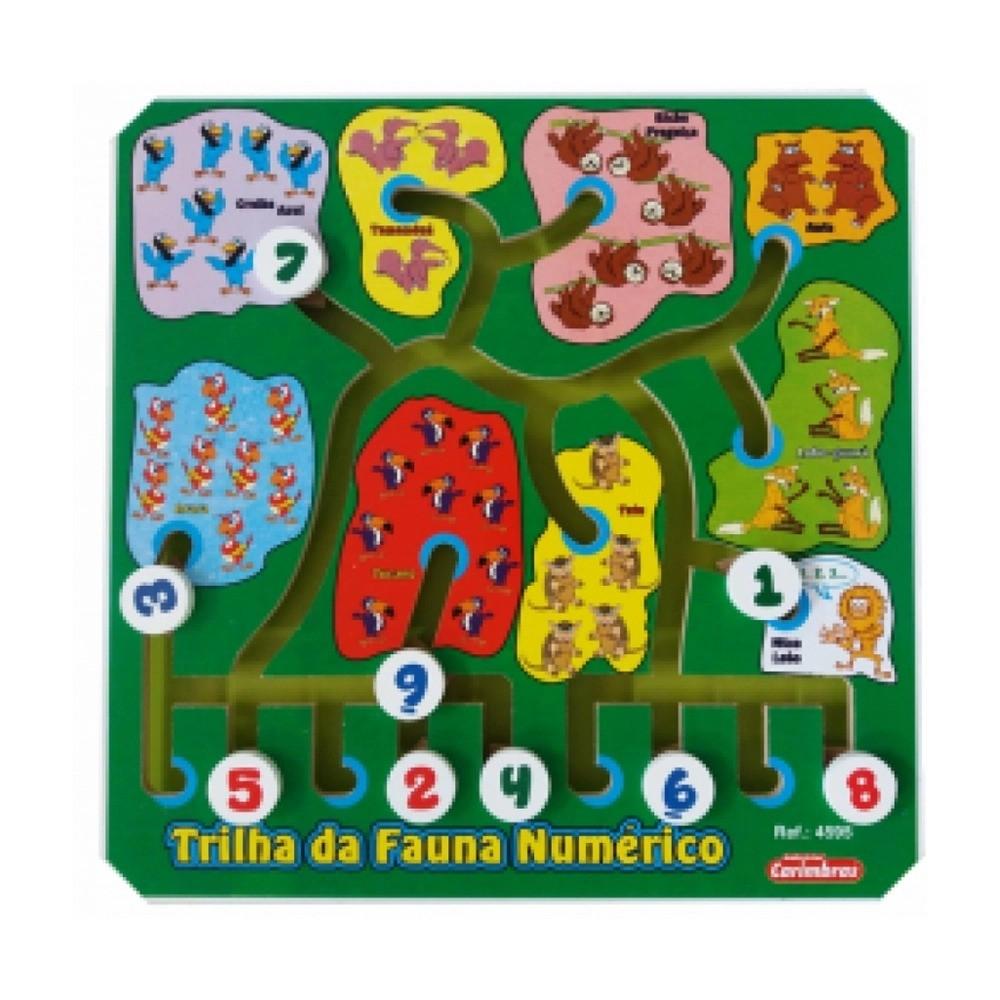 Labirinto Educativo em Madeira Trilha da Fauna Numérico 4595 Carimbras