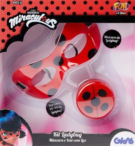 Ladybug Kit Médio Máscara R Io iô com luz - FUN