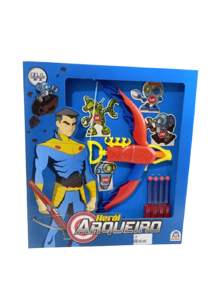 Lançador Arco e Flecha Herói Arqueiro Com Alvo Braskit