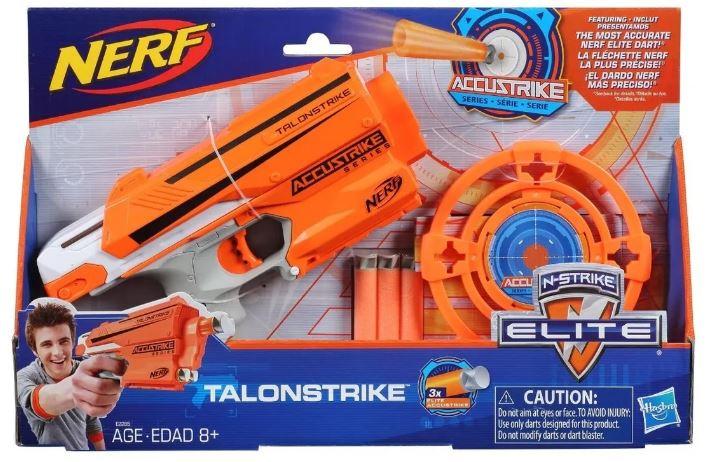 Lançador Nerf Accustrike Talonstrik Elite Com Alvo