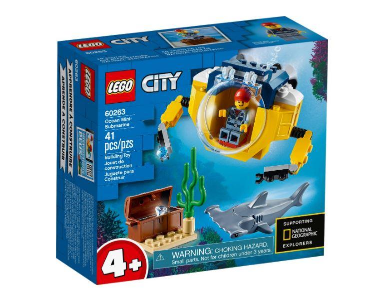 Lego City Mini Submarino 41 Peças 60263