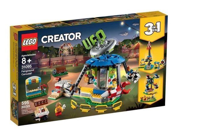 Lego Creator Carrossel Parque de Diversões  3 em 1 31095