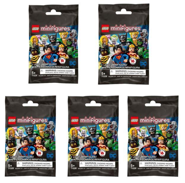 Lego Dc Super Heroes Series Kit com 5 Minifiguras Sortidas 71026