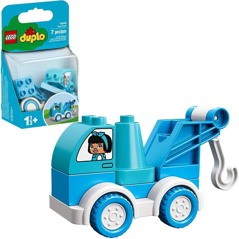 Lego Duplo O Caminhao De Reboque Azul 10918