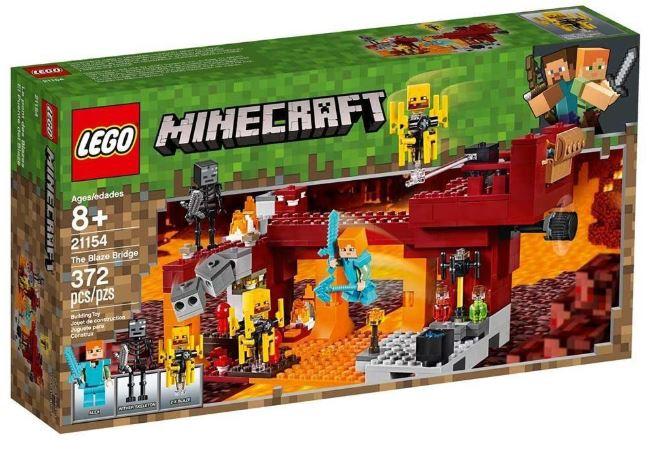Lego Minecraft A Ponte Flamejante 372 Peças 21154