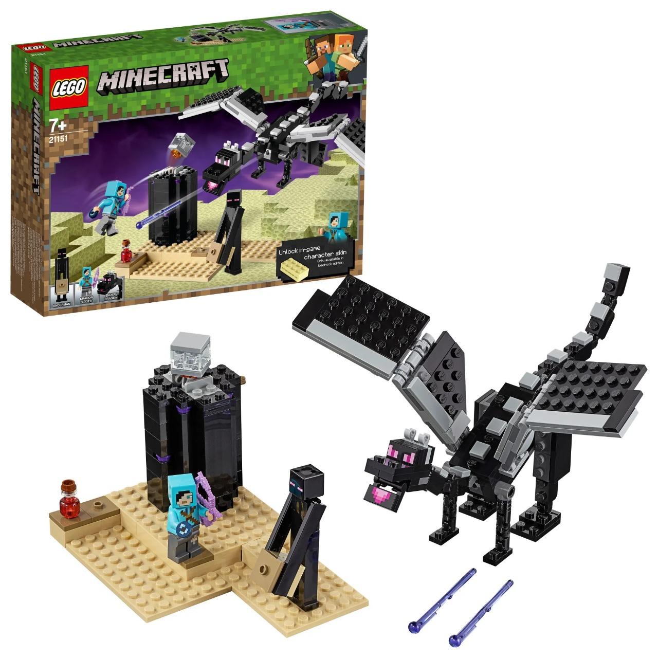 Lego Minecraft O Combate Do Fim 222 Peças 21151