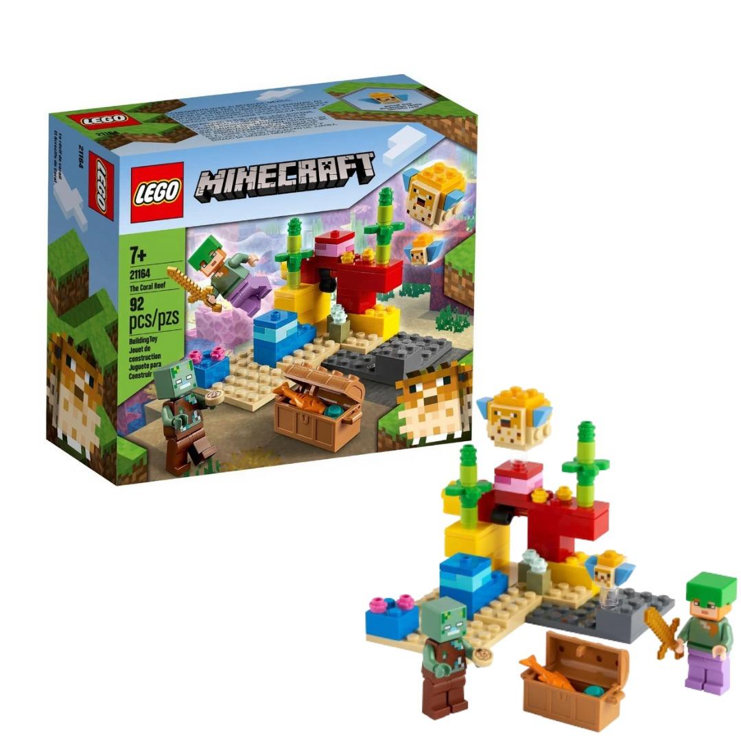 Lego Minecraft O Recife De Coral 92 Peças 21164