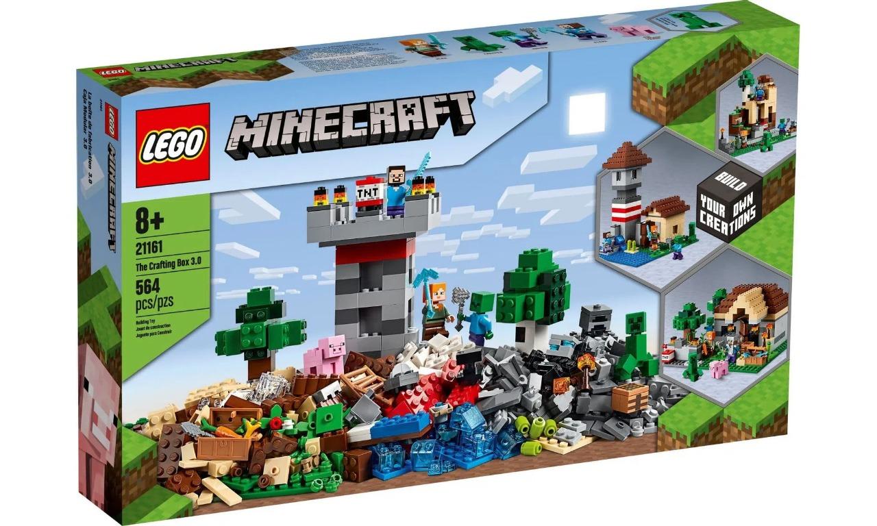Lego Minecraft The Crafting Box 3.0 Com 564 Peças  21161