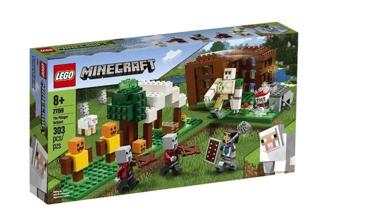 Lego Minecraft The Pillager Outpost 303 Peças 21159